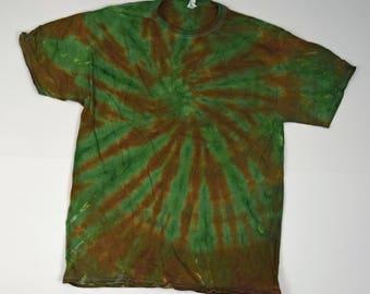 Avocado Blast Tie Dye T-Shirt  (Fruit of the Loom Heavy Cotton HD Size L) (One of a Kind)