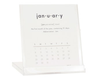 2017 Desk Calendar - BUY 2 GET 1 FREE - Calendar with Stand - Dictionary Definition Calendar - Black Friday Cyber Monday Sale