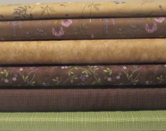 Holly Taylor Half Yard Fabric Bundle - Moda - Potting Shed - Lady Slipper Lodge