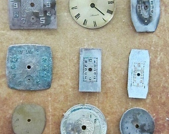 Vintage Antique Watch  Assortment Faces - Steampunk - Scrapbooking P47