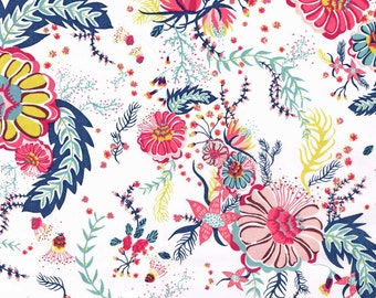 Liberty Fabric Tana Lawn Fat Quarter Aquatic Bloom A