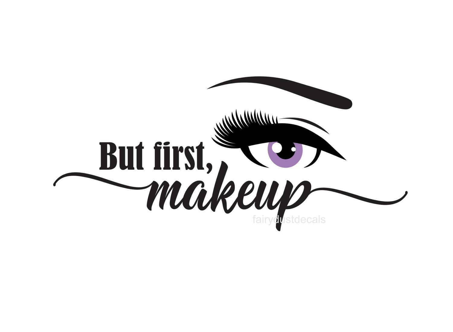 Wall Art Stickers For Bathroom Makeup Decal Cosmetics Mascara Decal Brows And Lashes