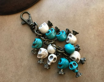 Catacomb Skulls Key Chain / Car Rear View Mirror Charm
