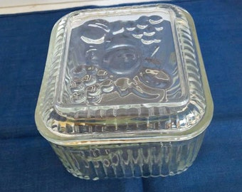 Glass Covered Refrigerator Dish