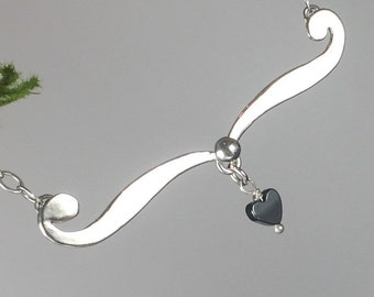 Hematite Sweetheart Pendant