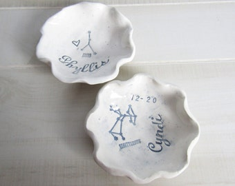 Personalized Constellation Star Sign Zodiac Astrology Trinket Dish FREE SHIPPING