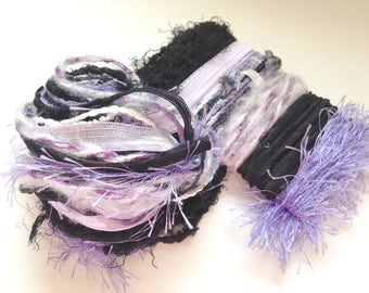 MAUVE MATTERS Specialty Yarn Fiber Embellishment Bundle - Altered Arts, Jewelry - 5 or more bundles for 10% discount