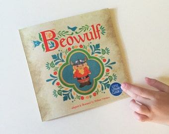 Beowulf small Little Literary Classics baby toddler book paperback 6.5 by 6.5 inches boy Denmark folk tale adventure