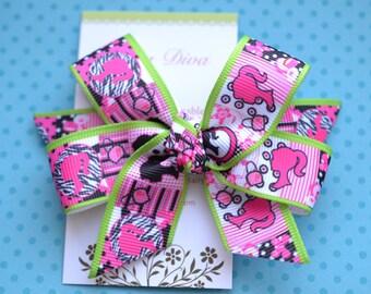 Hot Pink Barbie Classic Diva Bow