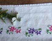 D 65: handloomed linen antique charming TOWEL napkin, LAUNDERED,리넨, decoration; tablerunner