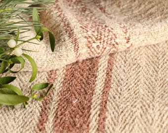 B 762 antique rural grainsack RED-BROWN,리넨; linen; holiday feeling pillow cushion 39.37 long thanksgiving french lin
