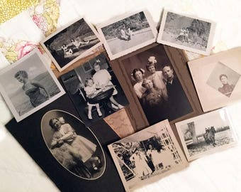 Vintage Craft Photo Pack, 10 Vintage Photos for Scrapbooking, Collage, Decoupage, Altered Art Craft, Kids Crafting, Card Making Supplies