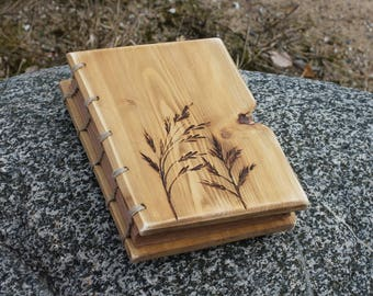 Wedding Guest Book rustic wood journal wooden guestbook bridal shower engagement anniversary