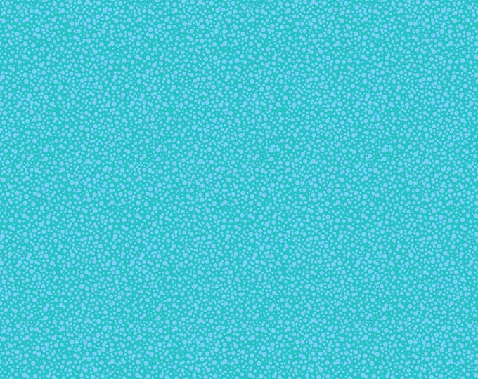 Dotties  Fabric by Ellen Medlock - 1 Yard Turquoise Blue Mini Print Geometric Tone on Tone Blender Sewing Quilting Cotton Fabric (#927T)