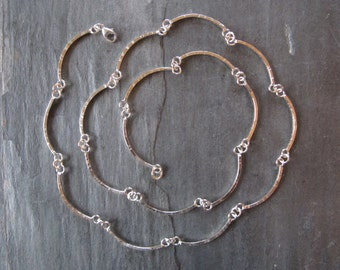 Handmade Long Chain in Sterling Silver
