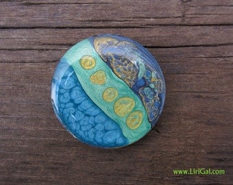 Crystal Resin Round Cabochon Cab 38mm (C23)