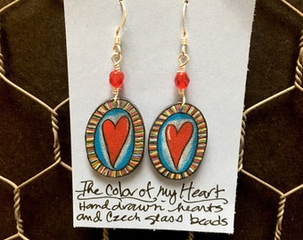 The Color of My Heart earrings