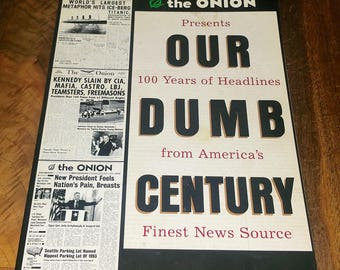 The Onion Presents Our Dumb History Vintage Paperback Book