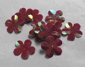 75 Rainbow Pink color/3D Flower sequins/KBBF724