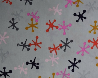 SALE Playful Jacks in mint Fabric from Melody Miller for Cotton & Steel sold in 1/2 yard increments