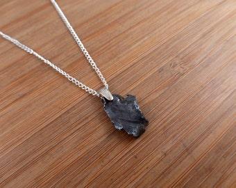 Sikhote-Alin Iron Meteorite Sterling Silver  Pendant