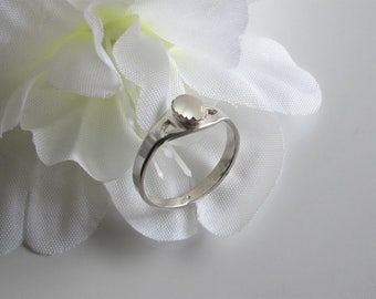 Moonstone Ring on Sterling, Promise Ring, Friendship Ring, June Birthstone