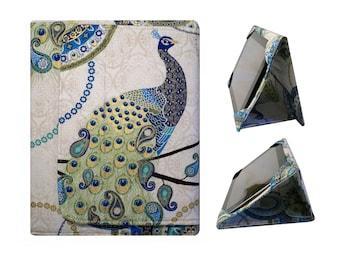 iPad  Cover Hardcover, iPad Case, iPad 2, iPad 3, iPad 4, Paisley Peacock  Gold , Ready to Ship