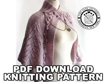 Capelet Knitting PATTERN, Arien of Dorthonion, PDF DOWNLOAD