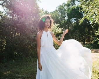 Winston Dress // silk chiffon wedding dress