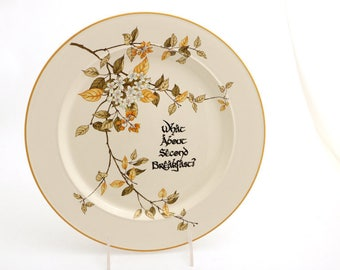 The Hobbit - second breakfast -  pancake plate - bacon platter - LOTR Tolkien inspired ceramic dish - home and living