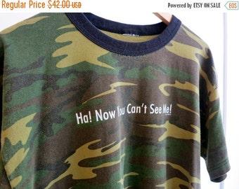 30% OFF HOLIDAY SALE The Vintage Now You Can't See Me Camo TShirt