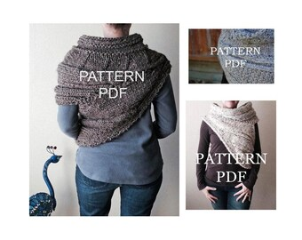 Katniss Cowl Pattern BUNDLE - All THREE of my popular Katinss Inspired Cowl Patterns - DIY Knitting