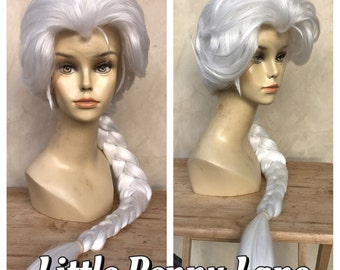 Elsa Frozen Adult Costume Wig Lace Front Parks Style Version