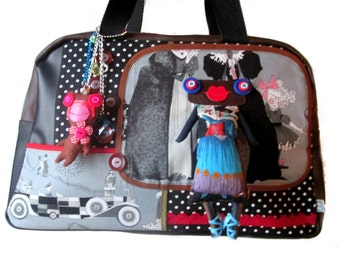 creative bag, unique bag, tim burton bag, alexander henry bag, n8
