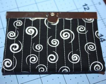Black and White Swirls Card Holder