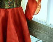 RESERVED FOR POLLY ~ Medieval Doll Dress, Earth Tones Medieval Gown, Woodland Princess Dress, American Girl Doll Clothes
