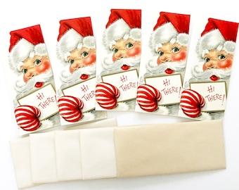 Vintage Christmas Cards Santa Claus Hallmark Slim Jims UNUSED with Envelopes Included