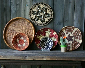 One Or More of Six Baskets Vintage From Nowvintage on Etsy