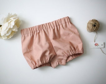 Linen Bloomers, Bubble Shorts, Diaper Cover, Toddler Diaper Cover, Pink Linen Bloomers, Baby Shorts, Purple Bloomers, Gray Diaper Cover