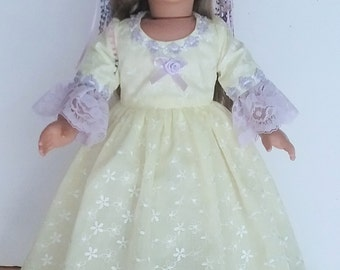Sun Princess style  ball gown, 2 pc. fits American Girl 18 in. dolls. No.692