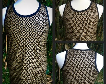 Amazonia Tank Top - Black and Gold