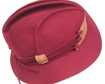 1930's Vintage Rust Fur Felt Women's Hat