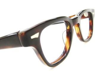 Vintage Red Tortoise  Jonny Depp Style Glasses Eyeglasses Sunglasses Mad Men Frame Art Craft