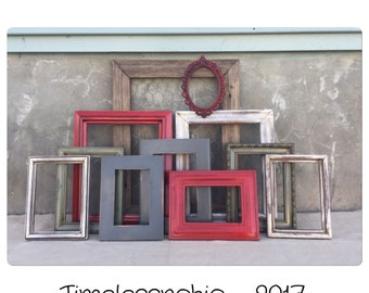 Rustic Picture Frame - Picture Frame Set - Wood Picture Frame - Rustic Frame - Reclaimed Wood Frames - Distressed Frames - Photo Frame -