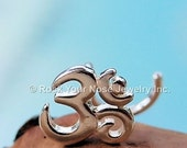 Holiday Sale Ohm Nose Stud / Ohm Nose Ring / Yoga Nose Jewelry / Meditation Nose Ring / Unique Nose Jewelry / Rock Your Nose - CUSTOMIZE