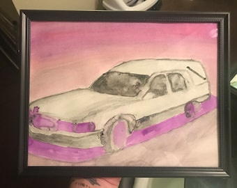 Hearse watercolor