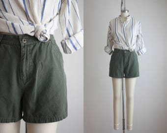 high waisted forestry shorts