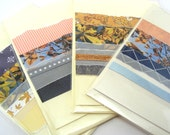 Set of Greeting Cards - One Of a Kind Cards - Blank Greeting Card - Set of 4 cards -  OOAK Paper Collage Cards - Any Occassion Cards