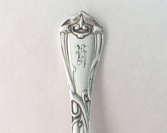 Spoon Key Chain, Spoon Key Ring, Vintage Spoon Keychain, H Monogram, Modern Art Pattern, Handmade