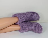 HALF PRICE SALE Instant Digital File pdf download Knitting pattern- Rib Cuff Super Chunky Slipper Boots pdf download knitting pattern